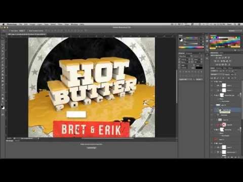 Making the HOT BUTTER PODCAST logo | Timelapse