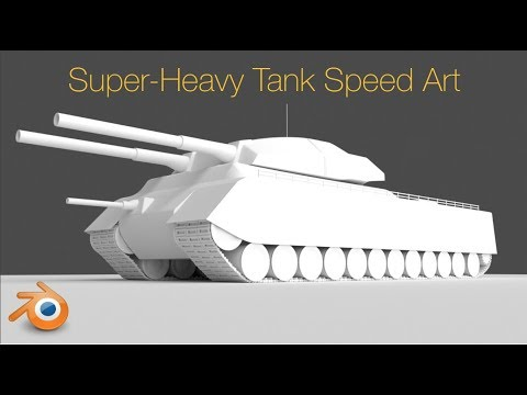 Landcruiser Cartoon Tank Animation Speed Art in Blender