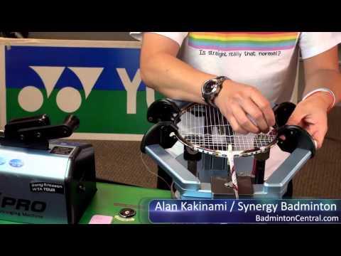 Alan Kakinami strings a badminton racket in 14mins 45secs - Badminton Stringing
