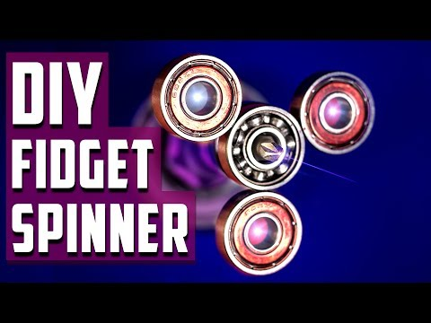 How To Make A Simple Amazing Fidget Spinner - DIY - Home Made