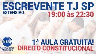 Curso Extensivo Escrevente TJ SP - Direito Constitucional 1 - Grátis