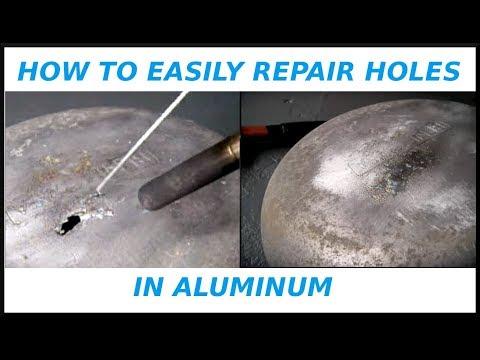 How To EASILY Repair Holes In Aluminum