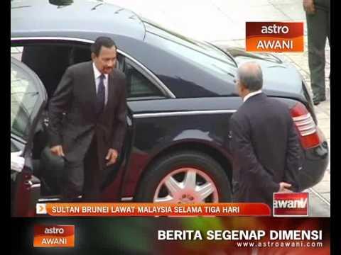 Sultan Brunei buat lawatan ke Malaysia selama 3 hari