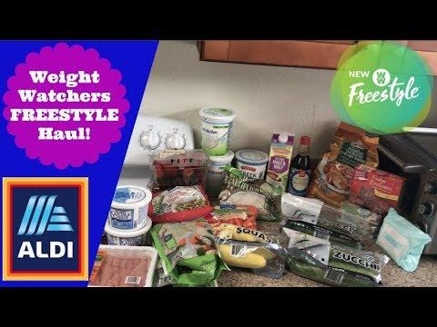 $45 ALDI Weekly Grocery Haul | Weight Watchers Freestyle Haul!