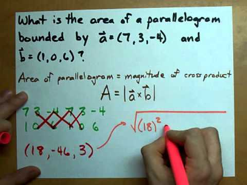 Area of a Parallelogram from Two Vectors