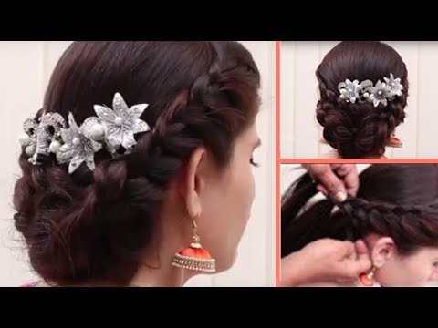 Easy&different  Party Hairstyle  For Medium-Length Hair styles for girls// Hair style videos 2017