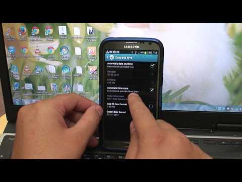 How to Change Date and Time Settings on Samsung Galaxy Note 2