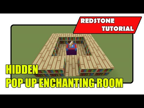 Hidden Flush Pop Up Enchantment Room [Enchantment Table Input] (Minecraft Xbox TU21/PlayStation CU8)