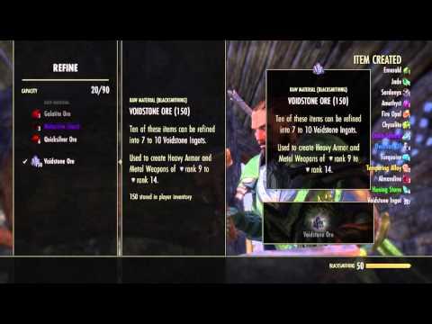 The Elder Scrolls Online:Refining 500 voidstone ore