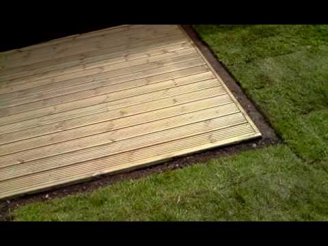 garden landscaping, new grass and decking done in coventry UK