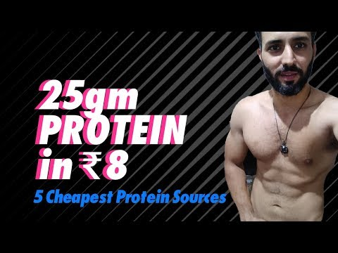 5 Cheapest Vegetarian protein sources in India( Less than 1 Re/gram) for Bodybuilding