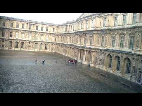 View of Paris Louvre Museum France