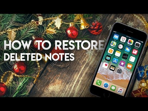 How to Recover Deleted Notes on iPhone - Accidentally Deleted Notes
