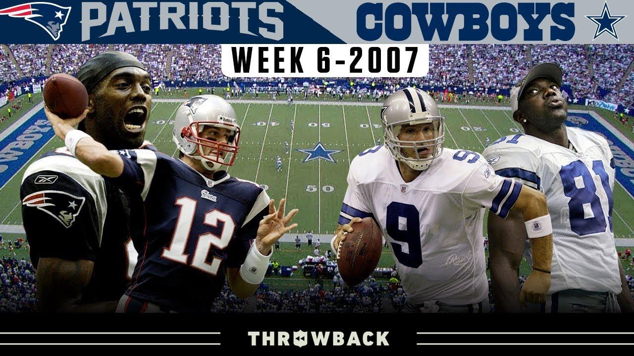 Most HYPED UP Dallas Regular Season Game Ever! (Patriots vs. Cowboys 2007, Week 6)