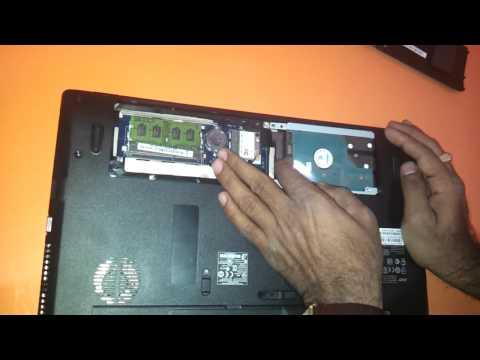 how to upgrade ram memory harddisk hdd in acer acer 5733 5733z 5742 5742z 5750 5750z