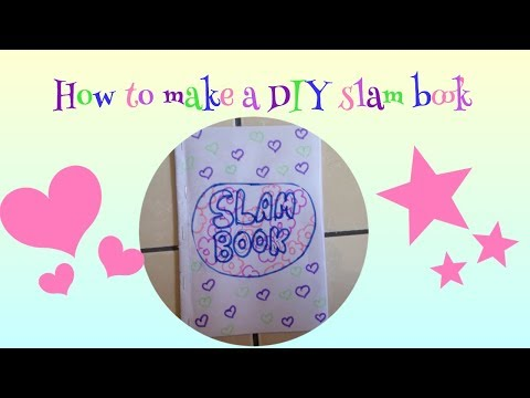 How to make a DIY slam book