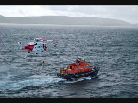 Shetland Coastguard Helicopters and Lerwick Lifeboat