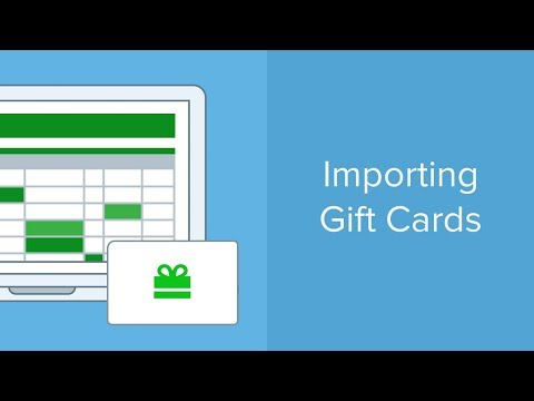 Importing Gift Cards | Vend U
