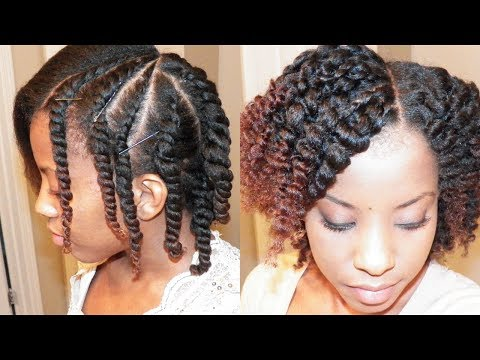 Flat Twist Out on Blown Out Natural Hair