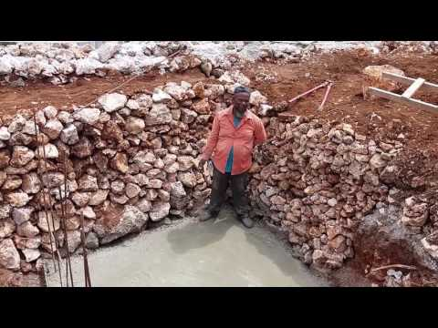 Building A House in Jamaica - Septic Tank Platform