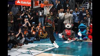 J. Cole Missed A Dunk After Dennis Smith Jr. In 2019 AT&T Slam Dunk Contest | All-Star Weekend