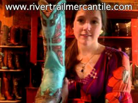 Old Gringo Boots Monarca Aqua Teal at www.rivertrailmercantile.com