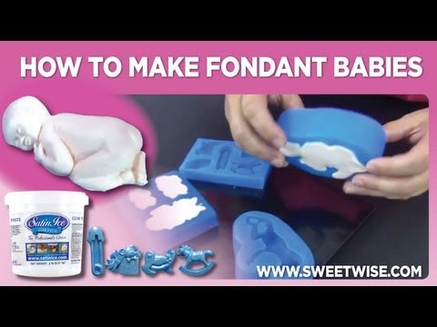 How To Make Fondant Babies by www.SweetWise.com