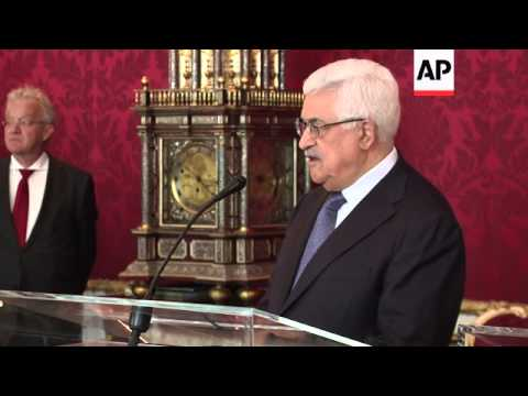 Austria President Fischer meets Palestinian President Abbas to discuss two-state solution