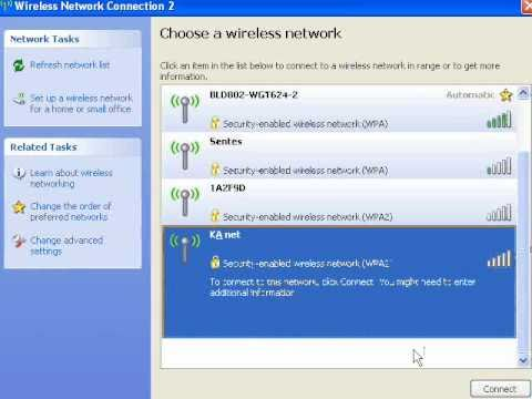 Windows XP - Removing a Stored Wireless Network Profile