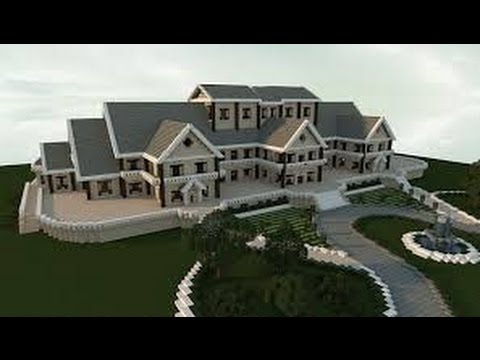 how to make a huge mansion in mcpe in 5 minutes