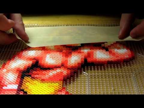 Perler bead masking tape method Part 1