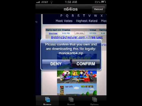 How to get n64 emulator iPod,iPhone