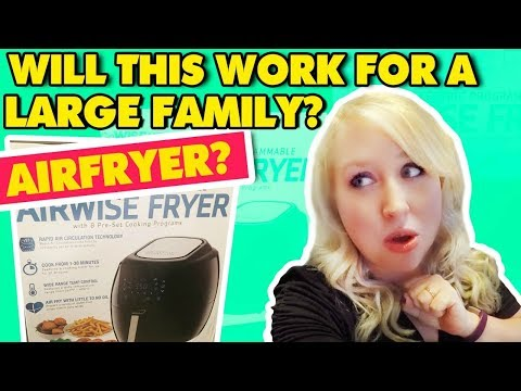 Will This Work For A Large Family? Go Wise Electric Air Fryer XL Unboxing!
