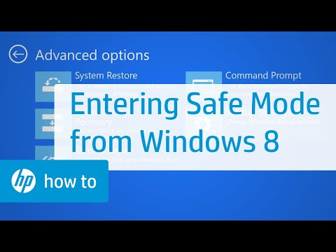 Entering Safe Mode from Windows 8