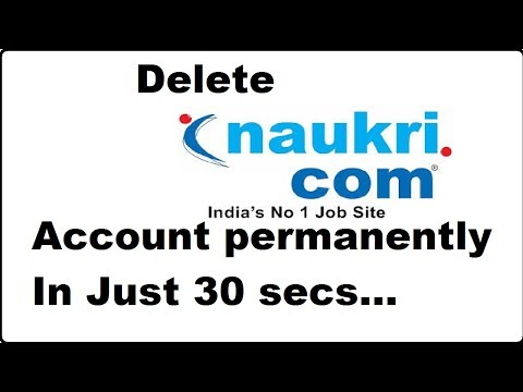 how to delete naukri account permanently 2017 with delete link