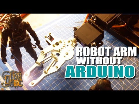 ROBOT ARM CONTROLLED BY  RC RADIO