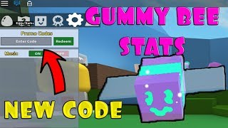 Gummy Bee Stats New Code Bee Swarm Simulator Roblox