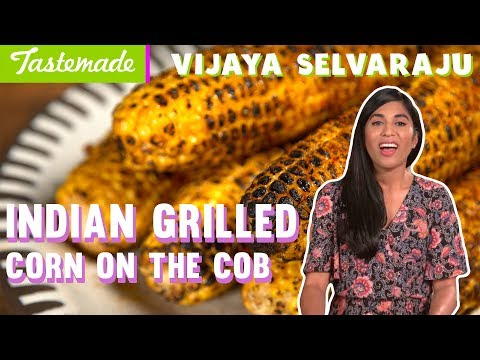 Indian Grilled Corn on the Cob | Vijaya Selvaraju