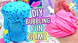 DIY BUBBLY Slime! Slime Science Experiment! How To Make The MOST FUN BUBBLING SLIME Ever!