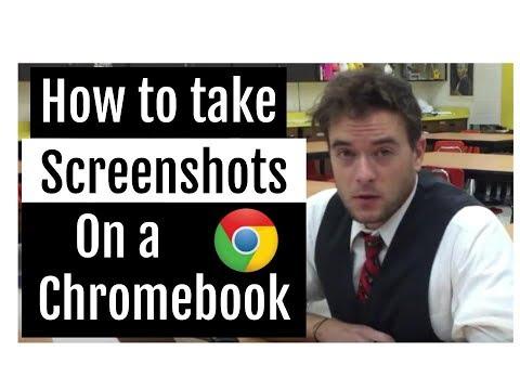 Screenshots on a Chromebook