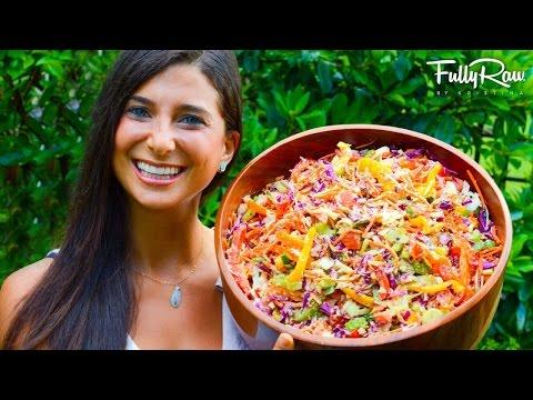 Rainbow Coleslaw with FullyRaw Mayonnaise!