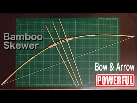 How to make bow and arrow with Bamboo Skewer