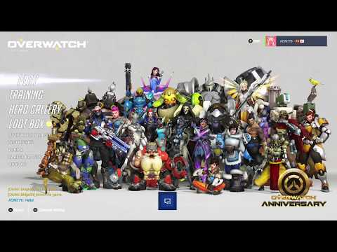 Overwatch OE Anniversary 2018 Opening 5 Loot Boxes