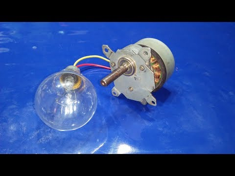 how to Make a Free Energy Generator from a Dead Printer Motors use Light Bulbs 100 watts 2018