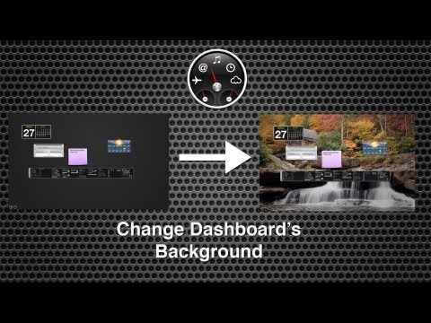 Change Dashboards Background in Mac OS X