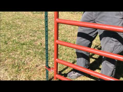 Hang a Gate from a T Post
