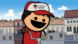 Pizza Delivery - Cyanide & Happiness Shorts
