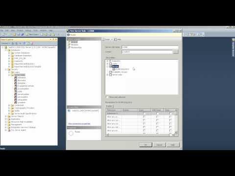 Microsoft SQL Server 2012 User defined Server Roles
