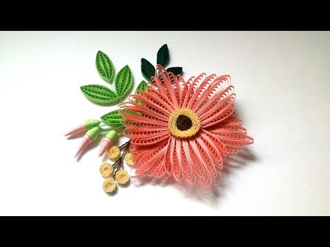 Openwork Quilling Flower with the Comb. Quick Tutorial.