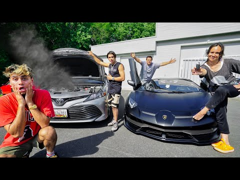 Switching Cars With Our Parents For 24 Hours!